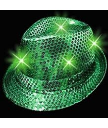 LED Fedora in Green