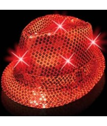 LED Fedora in Red