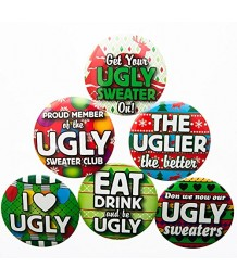 Ugly Sweater Button