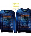 Light Up Menorah Sweater