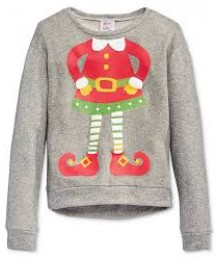 Girls Elf Yourself Gray Sweatshirt