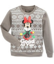 Girls Minnie Mouse Long Sleeve T