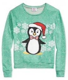 Girls Penguin Sweatshirt