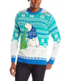 Puking Polar Bear LED Light Up Unisex Sweater