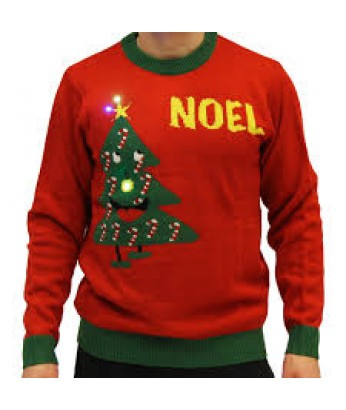 A Red Unisex NOEL Light Up Sweater