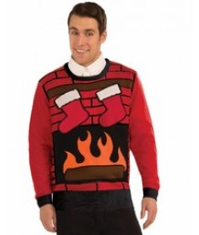 Crackling Fireplace Sweater