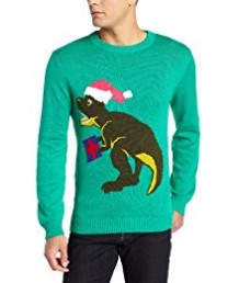 Green T - Rex Dinosaur Sweater