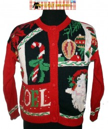 Red Vintage NOEL Knit Heirloom Collectibles Christmas Sweater