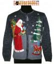 A Blue Tiara International Zip Up Santa Sweater