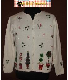 White Christmas Cardigan Sweater