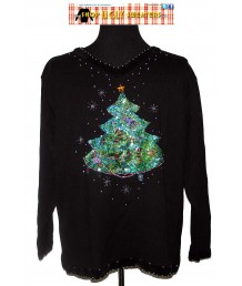 Sequin Christmas Tree Sweater