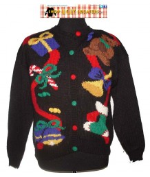 Teddybear & Presents Knit Cardigan Christmas Sweater