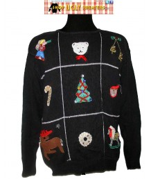 Black 9 Christmas Scenes Sweater