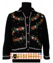 Black Gingerbread and Candycanes Sweater Size LARGE,