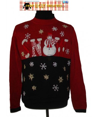 Red and Black SNOW Sweater Size XL