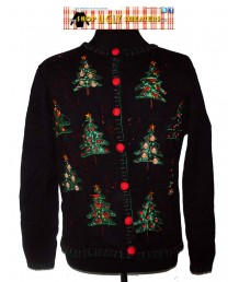 XL Sweater wtih Glittery Christmas Trees