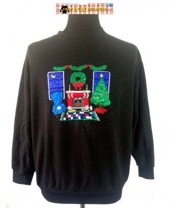 Santa In Fireplace Sweatshirt