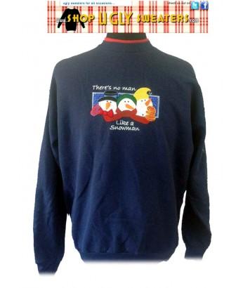 No Man Like A Snowman Sweatshirt Size L