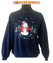 Single Blue Snowman Sweatshirt Size XL