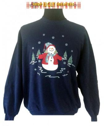 Single Blue Snowman Sweatshirt Size XL