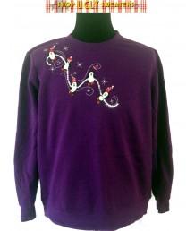 Purple Penguins Sweatshirt Size XL