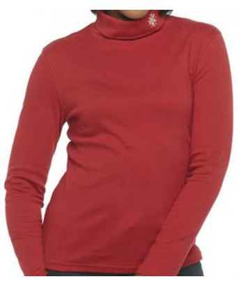 Red Snowflake Turtleneck
