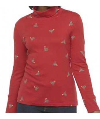 Red Trees Turtleneck