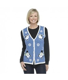A Blue Skating Snowmen Vest